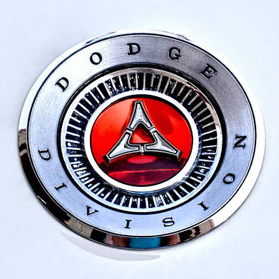 Photograph - Dodge Division Classic Car Emblem by Amy McDaniel