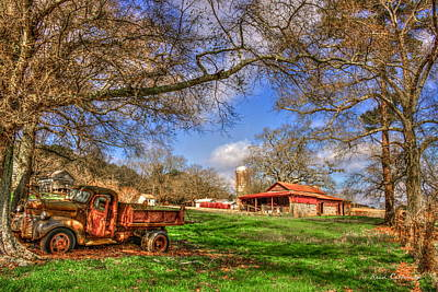 Dodge Dump Truck At The Resting Place Art Print by Reid Callaway