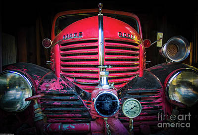 Photograph - Dodge Fire Truck by Mitch Shindelbower