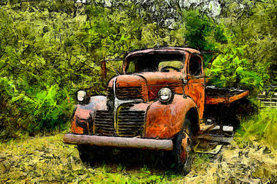 Photograph - Dodge Flatbed Truck Harmony by Floyd Snyder