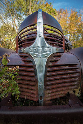 Photograph - Dodge Grill by Michael Porchik