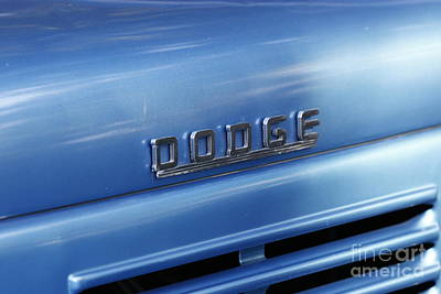 Photograph - Dodge Hood Emblem by Richard Lynch