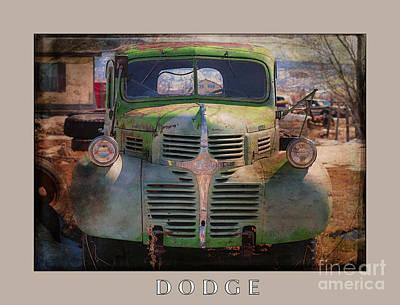 Rural Decay Digital Art - Dodge by Janice Rae Pariza