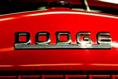 1947 Dodge Truck Photograph - Dodge Pick-up Hood Emblem By Earl's Photography by Earl  Eells a
