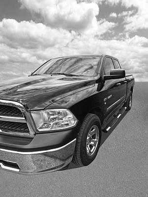 Photograph - Dodge Ram 5.7 Hemi Black And White by Gill Billington