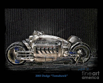 Photograph - Dodge Tomahawk by Tom Griffithe