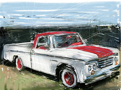 Collectible Mixed Media - Dodge Truck by Russell Pierce
