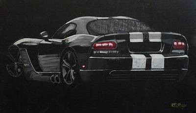Mixed Media - Dodge Viper by Richard Le Page