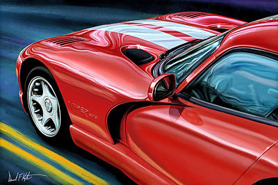 Dodge Viper Coupe Print by David Kyte