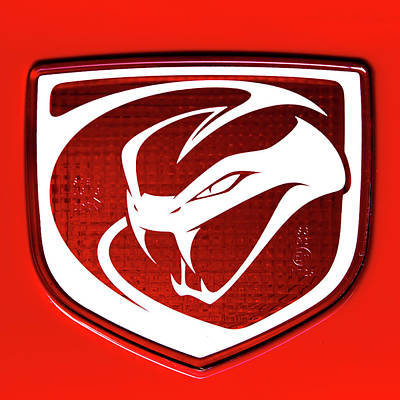 Photograph - Dodge Viper Emblem Red by Rospotte Photography