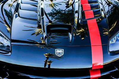 Photograph - Dodge Viper Hood -0389c by Jill Reger