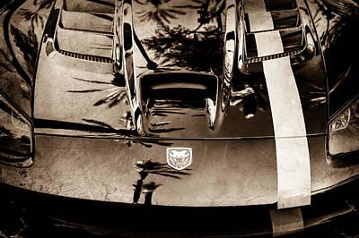 Viper Wall Art - Photograph - Dodge Viper Hood -0389s by Jill Reger