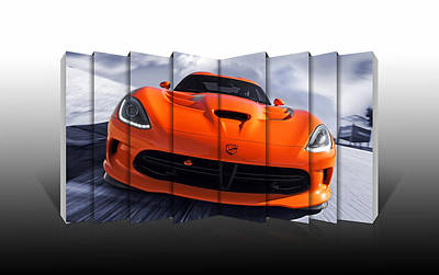 Viper Mixed Media - Dodge Viper by Marvin Blaine