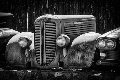 Dodge Wreck Art Print by Garry Gay