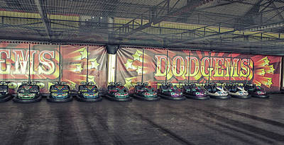 Funfair Photograph - Dodgems by Martin Newman