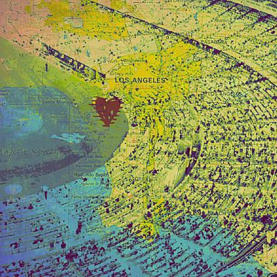 Los Angeles Dodgers Digital Art - Dodger Stadium Los Angeles V1 by Brandi Fitzgerald
