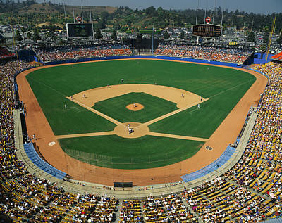 Crowd Scene Photograph - Dodger Stadium by Panoramic Images