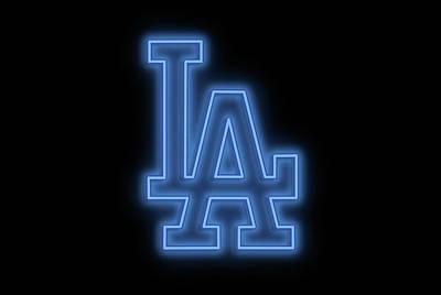 Digital Art - Dodgers Neon Sign by Ricky Barnard