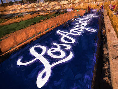 Los Angeles Dodgers Digital Art - Dodgers Springtraining by Vivian Frerichs