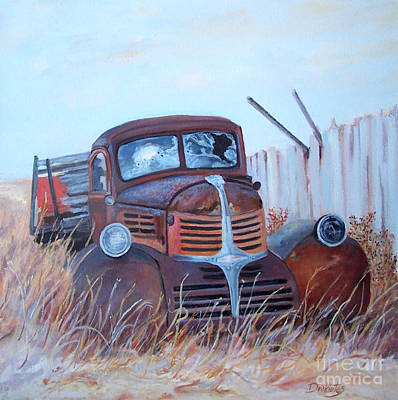 Dodge Truck Painting - Dodging Daylight by Alicia Drakiotes