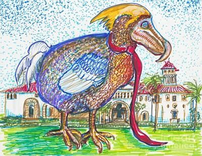 Dodo Bird Painting - Dodo Bird Sighting In Florida by Susan Brown    Slizys art signature name