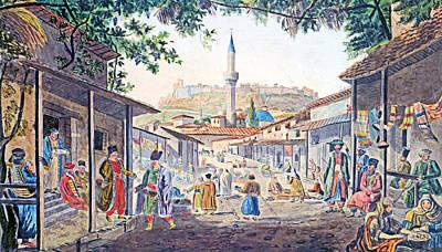 Photograph - Dodwell Edward Athens Bazaar by Munir Alawi