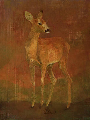 Painting - Doe by Attila Meszlenyi