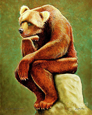 Painting - Does A Bear Sit In The Woods... by Will Bullas