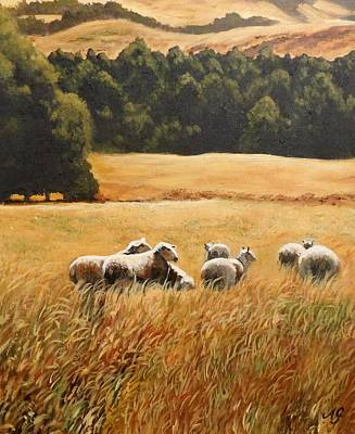 Painting - Does My Bum Look Big In This Paddock? by Anne Gardner