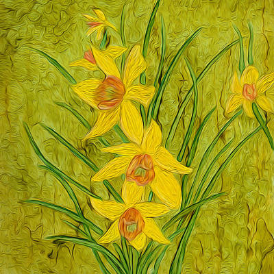 Painting - Daffodils Too by Laurie Williams
