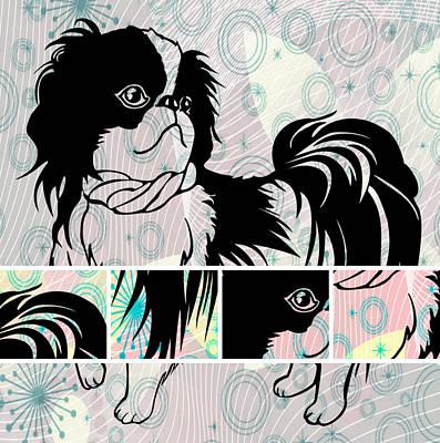 Footprint Digital Art - Dog 1-a by Victor Arriaga