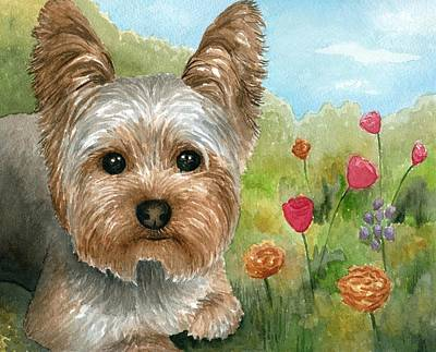 Dog 117 Art Print by Lucie Dumas