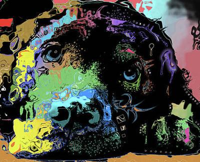 Mixed Media - Dog #221 by Nicholas Nixo