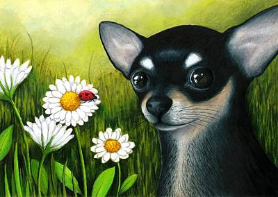 Chihuahua Painting - Dog 79 Chihuahua by Lucie Dumas