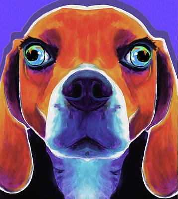 Basset Hound #01 By Nixo Print by Nicholas Nixo