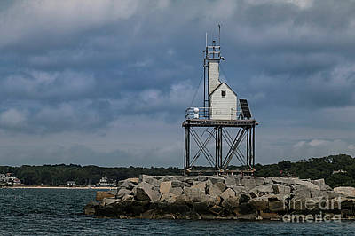 Photograph -     Dog Bar Breakwater Lighthouse by Mim White