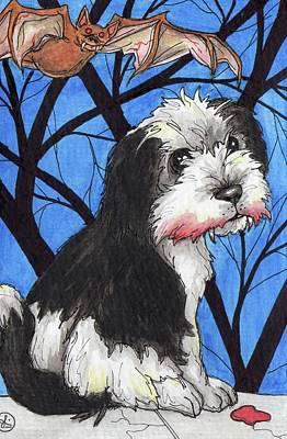 Painting - Dog Bite by Julie McDoniel