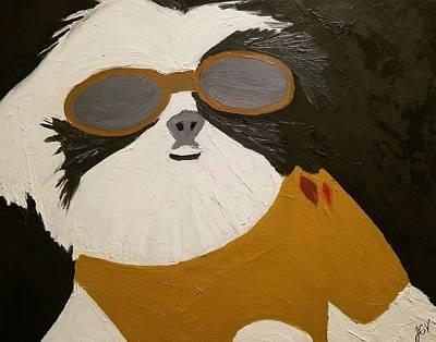 Dog Boss Art Print by J Cv