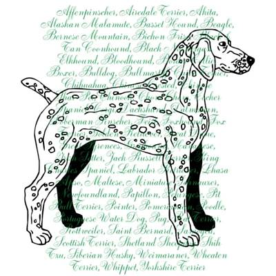 Digital Art - Dog Breeds by Robin Regan