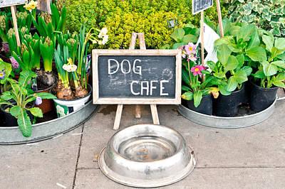 Dog Cafe Print by Tom Gowanlock