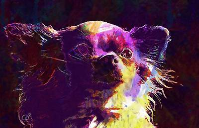 Digital Art - Dog Chihuahua  by PixBreak Art