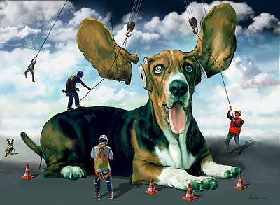 Digital Art - Dog Construction by Frank Harris