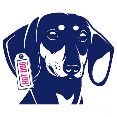 Cute Dachshund Digital Art - Dog Dachshund Hot Dog by Yegor Katayev