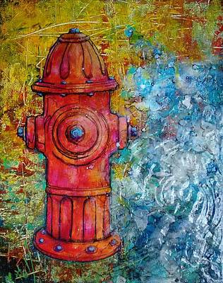Fire Hydrant Painting - Dog Days Of Summer  by Becky Ihlow