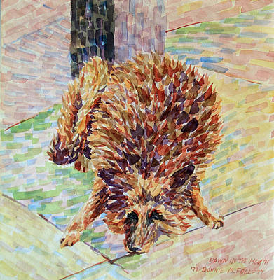Painting - Down In The Mouth Dog by Bonnie Follett