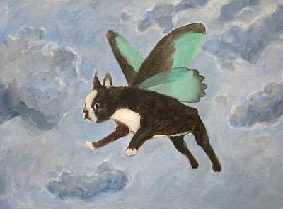 Painting - Dog Fairy  by Kazumi Whitemoon