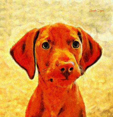 Rhodesian Ridgeback Painting - Dog Friend 2 - Pa by Leonardo Digenio