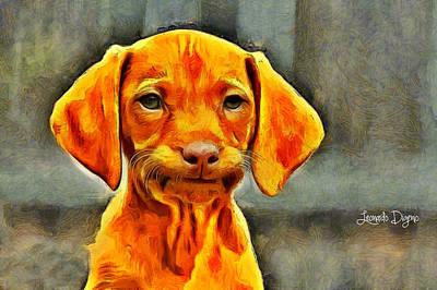 Best Friends Digital Art - Dog Friend - Da by Leonardo Digenio