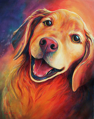 Dog, Golden Retriever Puppy  Original by Kim Kubena