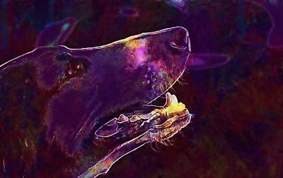Dog Hunting Dog Crocs Hunting  Art Print